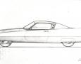 1955 Ghia Gilda Streamline-X drawing