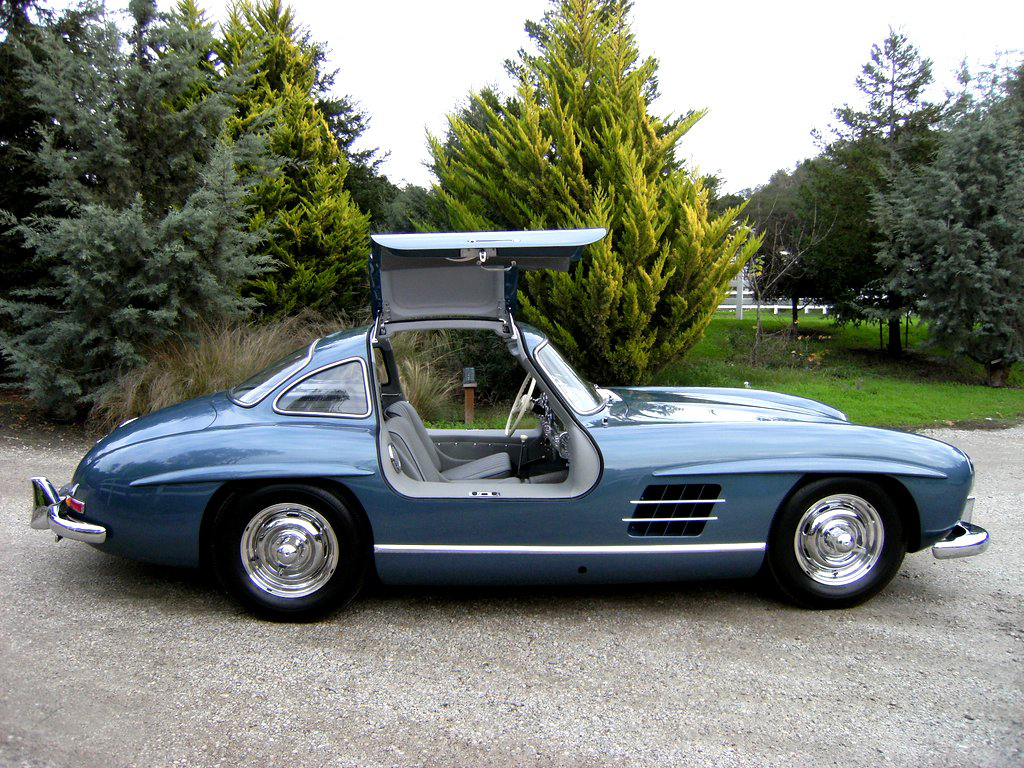 sold 1955 mercedes benz 300 sl gullwing scott grundfor. Black Bedroom Furniture Sets. Home Design Ideas