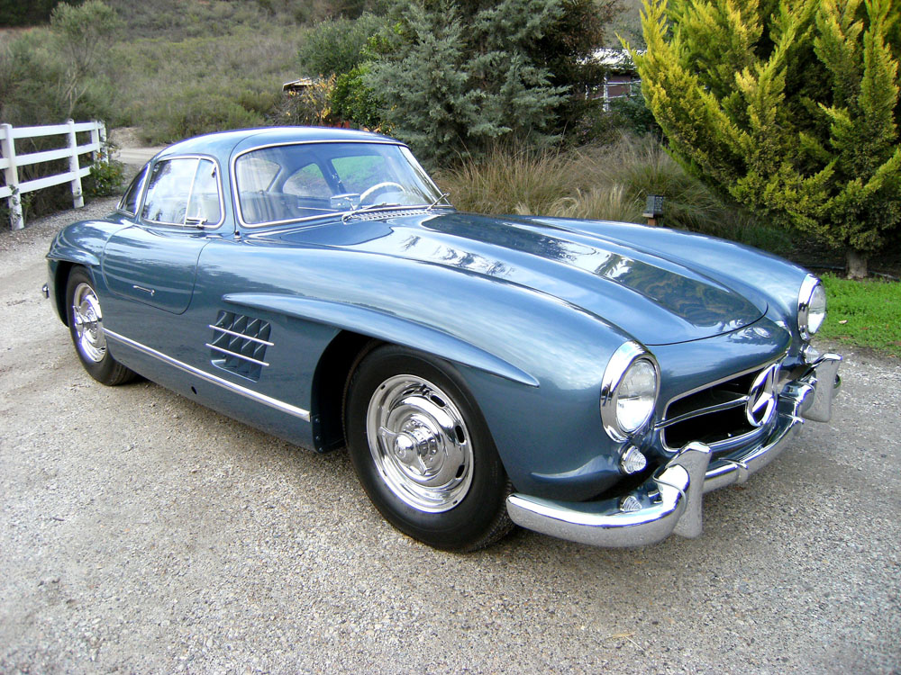 sold 1955 mercedes benz 300 sl gullwing scott grundfor company classic collectible mercedes. Black Bedroom Furniture Sets. Home Design Ideas