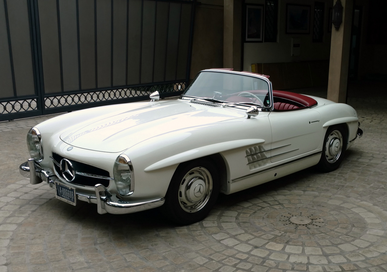 sold 1963 mercedes benz 300sl alloy block roadster. Black Bedroom Furniture Sets. Home Design Ideas