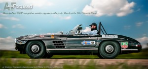 1962 Mercedes-Benz 300SL Competition Roadster approaches Carpenter Ranch on the 2014 Colorado Grand