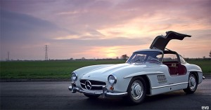 300SL Gullwing on the Track