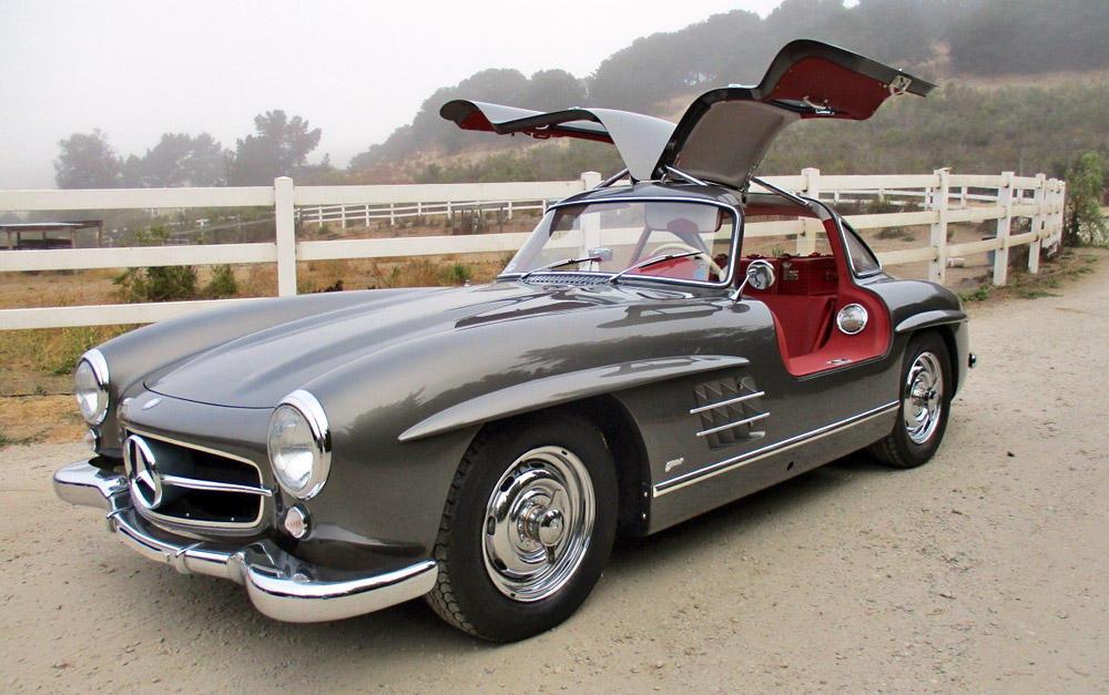 Mercedes 300 SL Gullwing steel grey