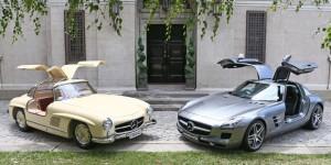 Mercedes-Benz 300SL and 300SLS AMG Gullwing.